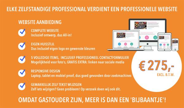 Gastouder aanbieding professionele website. Exclusief voor GOB inZicht gastouders .