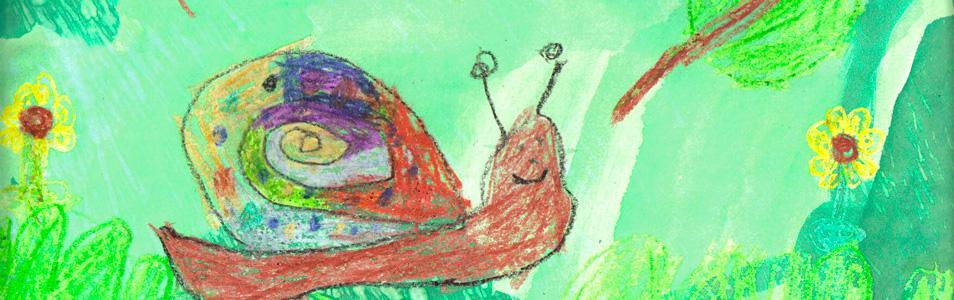 Gastouderbureau inZicht Gastouders winter slak tekening