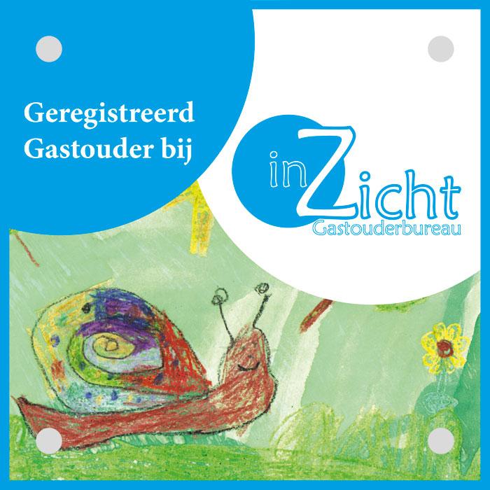 Gastouders gratis gevelbordje GOB inZicht gastouderbureau